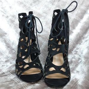 Aldo Black Strappy Heels